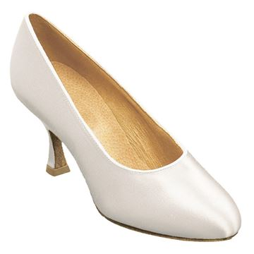 Picture of 107A Bora | White Satin | Standard Ballroom Dance Shoes | Sale
