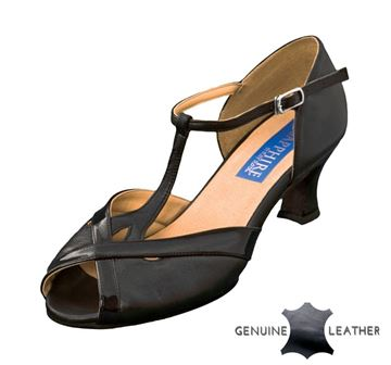 Imagen de Azalea | Black Leather/Black Patent | Sale