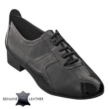 Picture of Elm | Black Leather & Black Patent | Sale