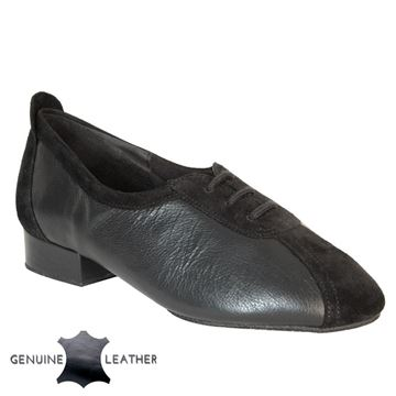 Imagen de P111 Black Leather/Suede - Suede Sole | Sale