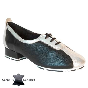 Imagen de P111 Black/Silver Leather - Star Sole | Sale