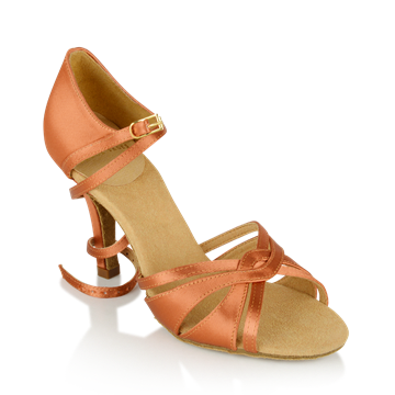 Imagen de 884-X Aura Xtra | Dark Tan Satin  | Latin Dance Shoes