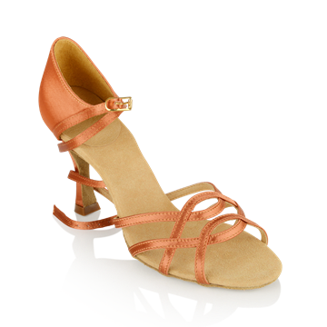 Imagen de 840-X Gobi Xtra | Dark Tan Satin | Ladies Latin Dance Shoes